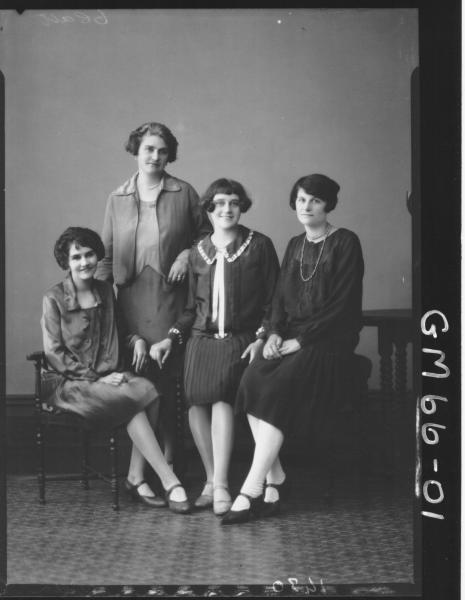 Portrait of four women F/L, Villa