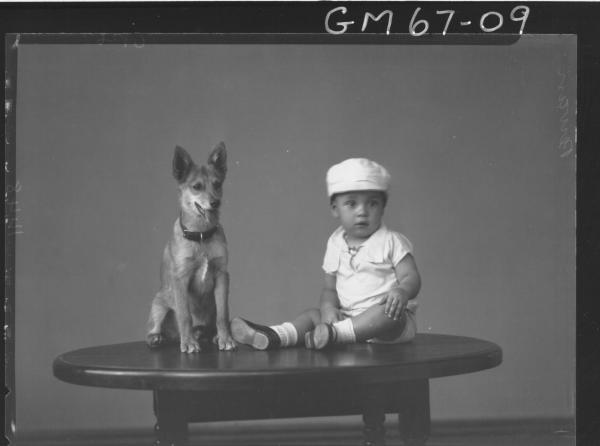 PORTRAIT OF BOY AND DOG, PERVAN