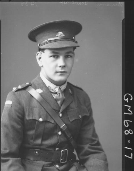 PORTRAIT OF ARMY OFFICER, H/S SANSUM