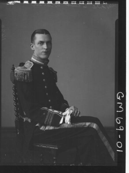 PORTRAIT OF MAN IN NAVAL OFFICE UNIFORM, WHITE