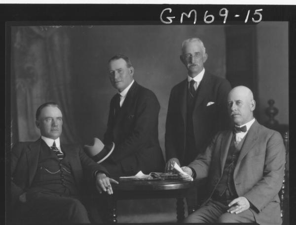 PORTRAIT OF FOUR MEN C.I.D. STAFF POLICE