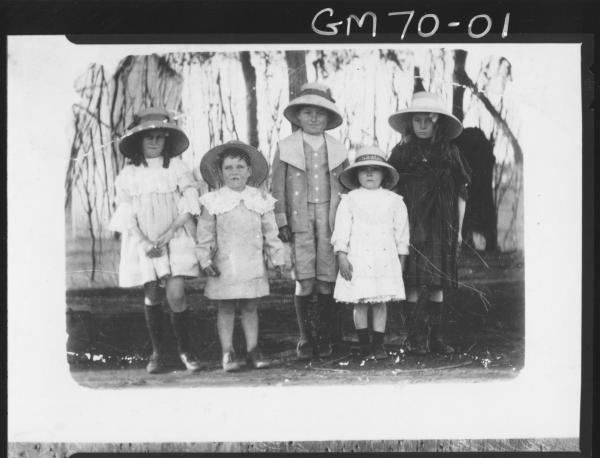 COPY OF FOUR CHILDREN IN BUSH, WILLCOCKS, HMS ALERT HAT BAND