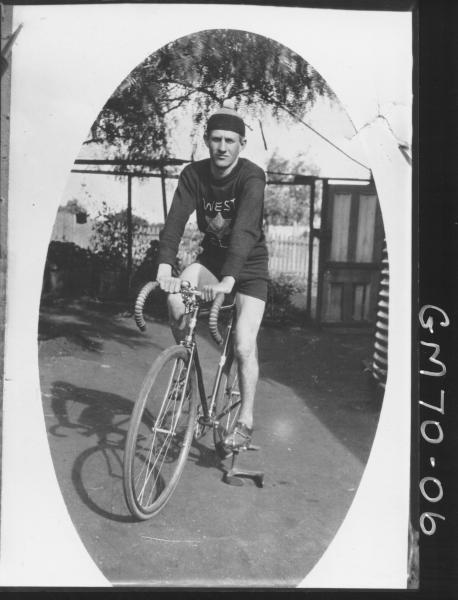 PORTRAIT COPY OF MAN ON BIKE, NELSON
