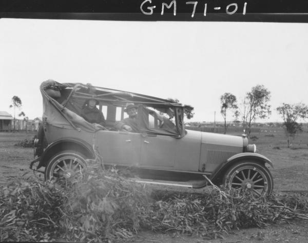 CAR DAMAGED-CYCLONE DAMAGE