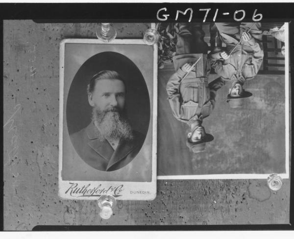 COPY OF TWO, PICTURE 1, OLD MAN N.Z., PICTURE 2, SOLDIER IN UNIFORM, MATHESON