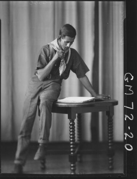 PORTRAIT OF MAN IN SCOUT MASTER UNIFORM, BENNETT