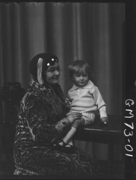 WOMAN AND CHILD PORTRAIT, RYAN