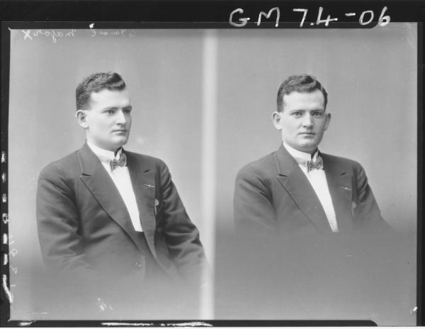 TWO PORTRAIT POSES OF MAN, H/S, MAJOR