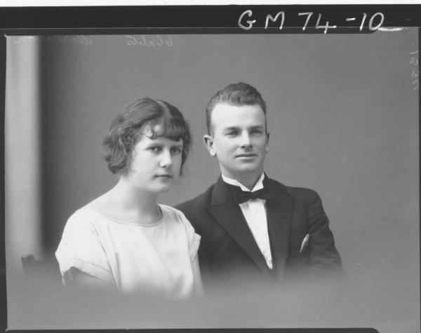 PORTRAIT OF WOMAN AND MAN, H/S, MORRISON