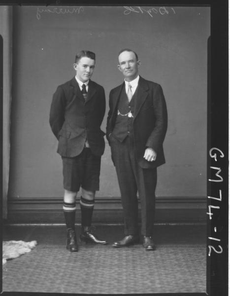 PORTRAIT OF MAN AND BOY, F/L, MURRAY
