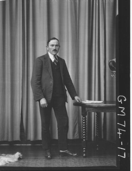 PORTRAIT OF MAN, F/L, MIGCH