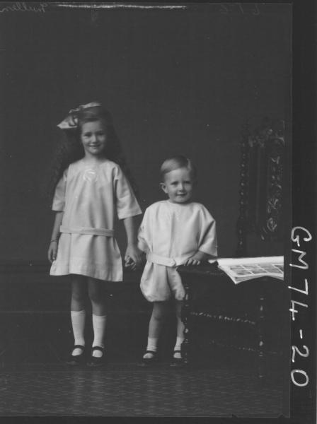 PORTRAIT OF TWO CHILDREN, F/L, MULLEN