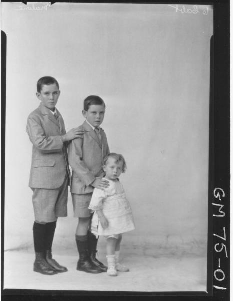 PORTRAIT OF THREE CHILDREN, F/L, MALONE