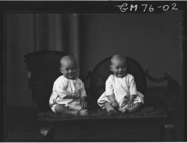 PORTRAIT OF TWIN BABIES, PERRIMAN