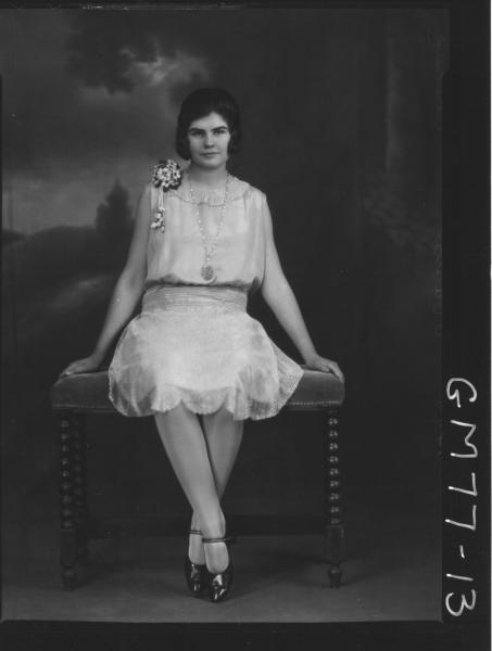 PORTRAIT OF WOMAN, F/L, PASCOE