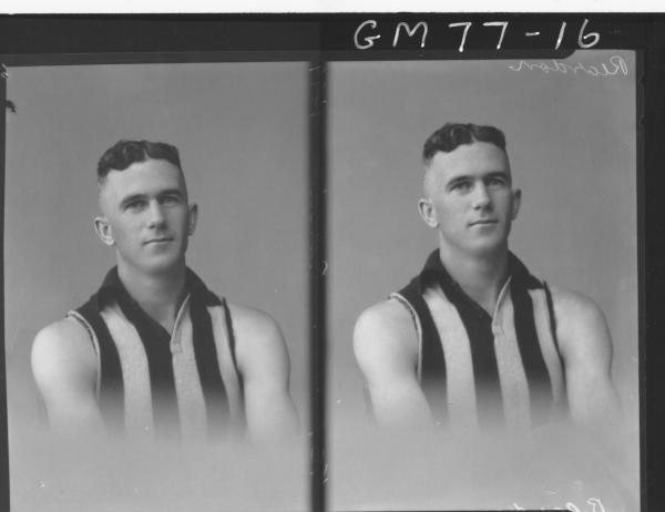 TWO PORTRAIT POSE OF FOOTBALLER, H/S, REARDON
