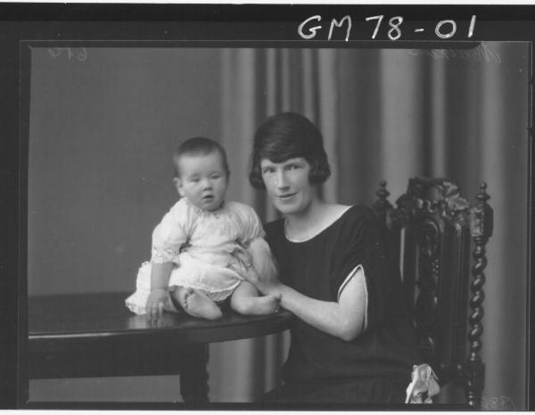 PORTRAIT OF WOMAN AND BABY, MATHEWS