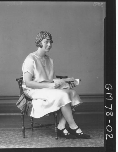 PORTRAIT OF WOMAN, F/L, MAHER