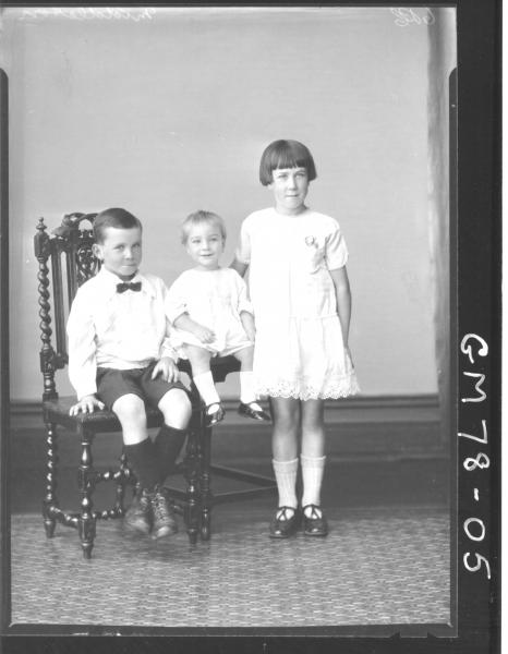 PORTRAIT OF THREE CHILDREN, MIDDLETON