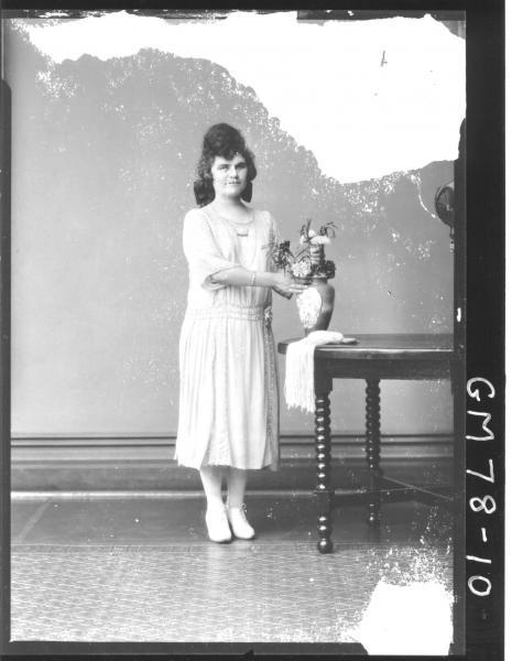 PORTRAIT OF WOMAN, F/L, MARY SAIN