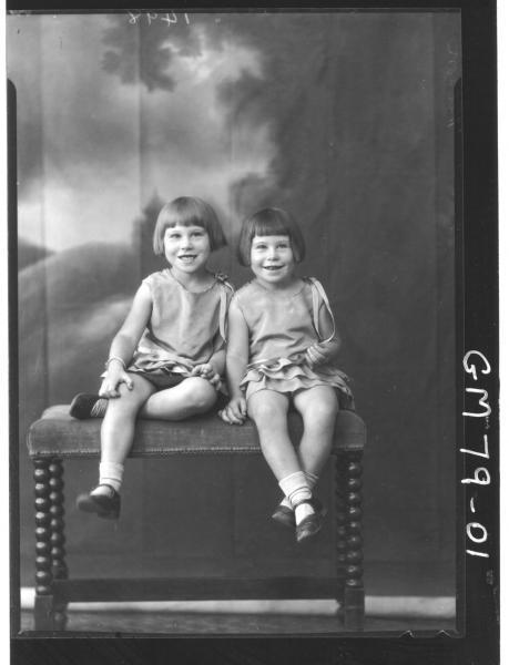 PORTRAIT OF TWO CHILDREN, F/L, NELSON
