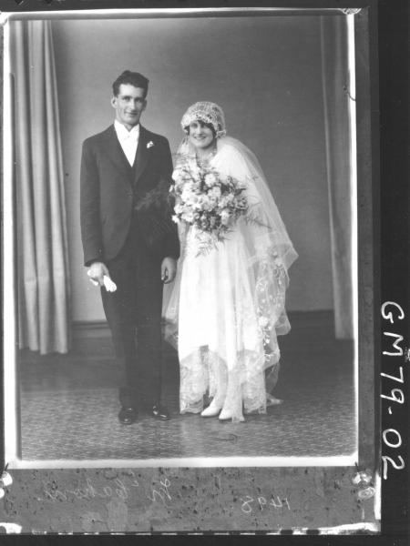 COPY OF PORTRAIT OF BRIDE AND GROOM, F/L, MCCAHON