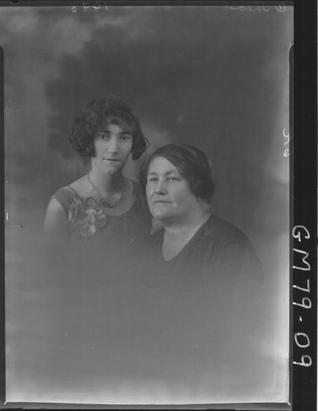 PORTRAIT OF TWO WOMAN, H/S, O'SHEA