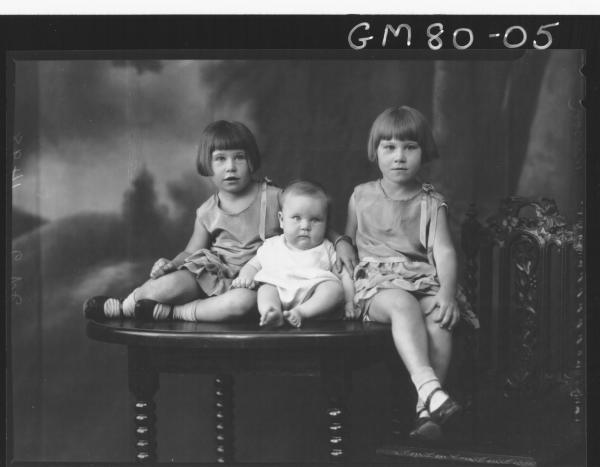 PORTRAIT OF THREE CHILDREN, NELSON