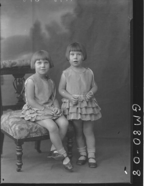 PORTRAIT OF TWO CHILDREN, F/L, NELSON
