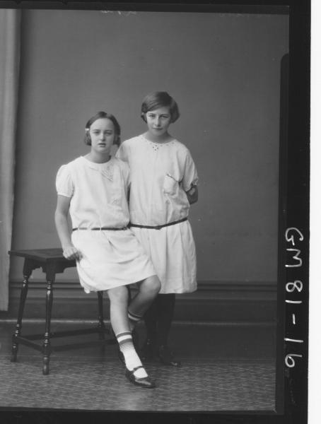 PORTRAIT OF TWO GIRLS, F/L, MATHEWS