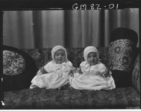PORTRAIT OF TWIN BABIES, KING
