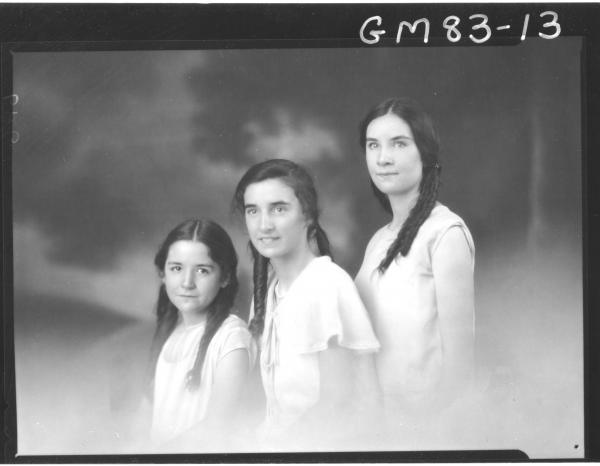 PORTRAIT OF THREE GIRLS, ALDERIDGE