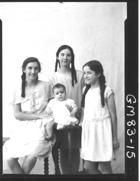 PORTRAIT OF FOUR CHILDREN, ALDERIDGE