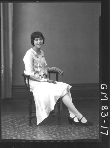 PORTRAIT OF WOMAN, F/L, ALLAN