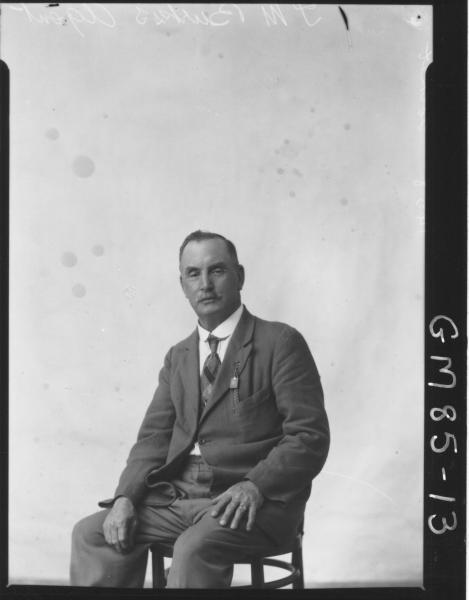 PORTRAIT OF MAN, T.M. BURKES AGENT