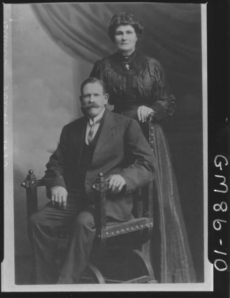 COPY OF PORTRAIT OF WOMAN AND MAN, F/L, BREWER