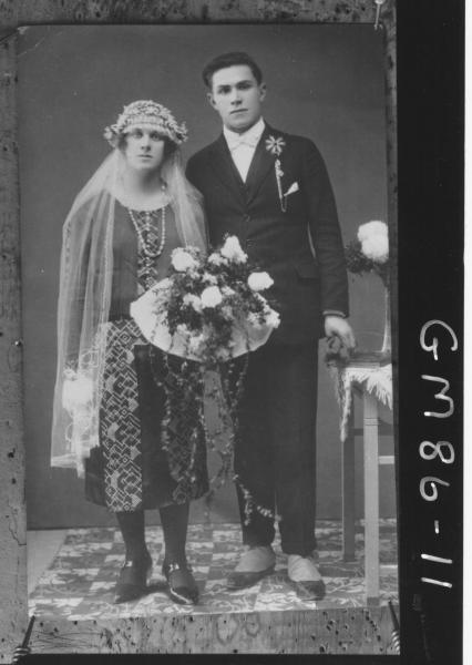 COPY OF PORTRAIT OF BRIDE AND GROOM, F/L, STARR
