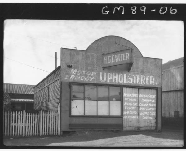 H.G. CARTER UPHOLSTERER BUILDING