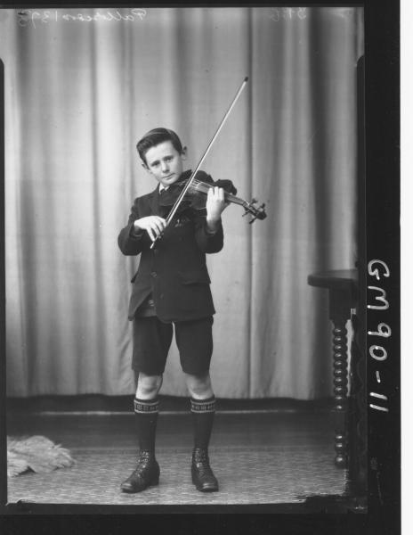 PORTRAIT OF BOY WITH VIOLIN, 'PATTERSON'