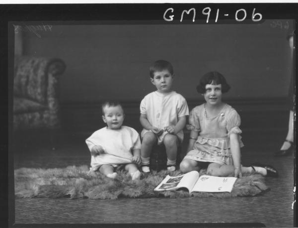 PORTRAIT OF THREE CHILDREN, 'HUGHES'