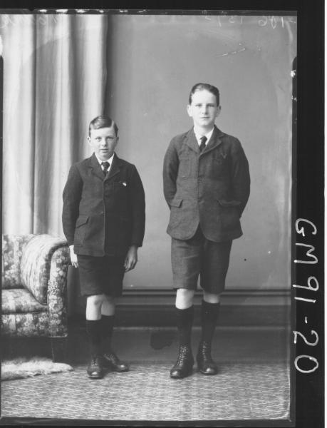 PORTRAIT OF TWO BOYS, 'Left Victor Walker Right Albert Walker (Pollock).
