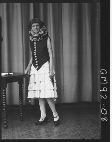 PORTRAIT OF WOMAN FANCY DRESS, 'PASCOE'