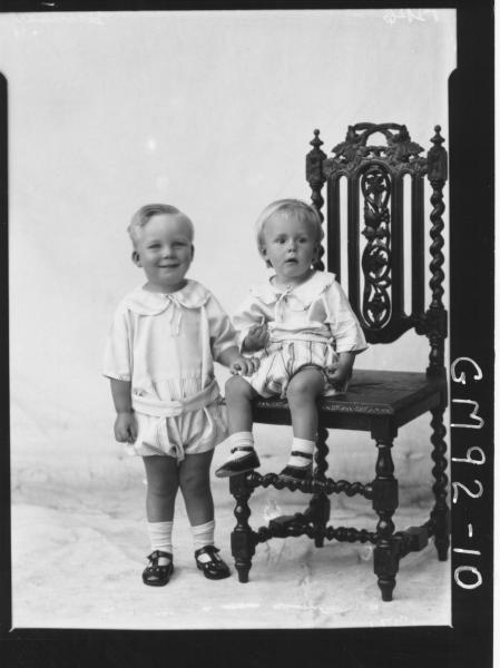 PORTRAIT OF TWO CHILDREN, 'HANSEN'