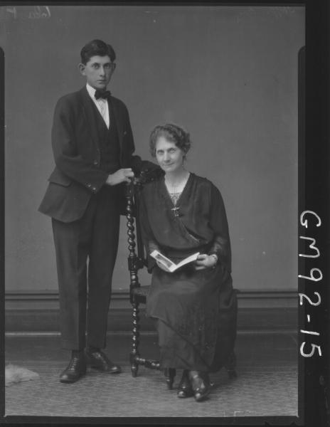 PORTRAIT OF MAN & WOMAN, 'HOFFMAN'