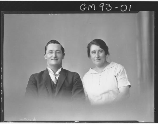 PORTRAIT OF WOMAN AND MAN, 'HUNT'