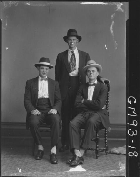 PORTRAIT OF THREE MEN, 'HALL'