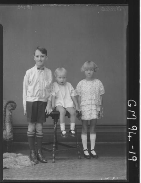 PORTRAIT OF THREE CHILDREN, 'HALSE'