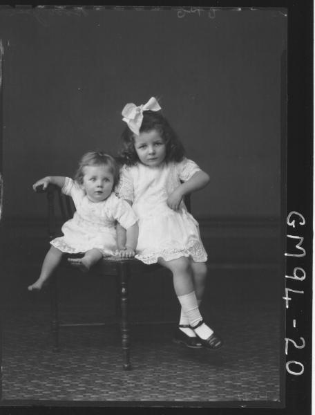 PORTRAIT OF TWO CHILDREN, 'BOOBYER'