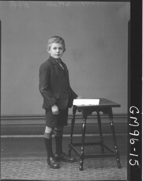PORTRAIT OF BOY, 'WHITE'