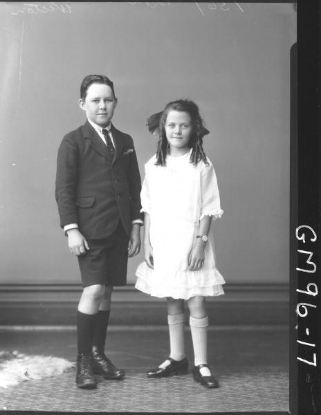 PORTRAIT OF TWO CHILDREN, 'WESTON'